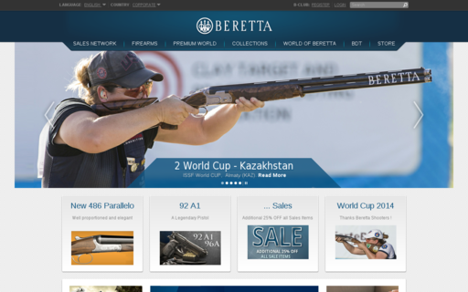Access beretta.com using Hola Unblocker web proxy