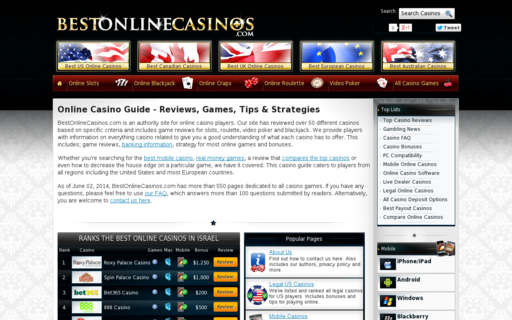 Access bestonlinecasinos.com using Hola Unblocker web proxy