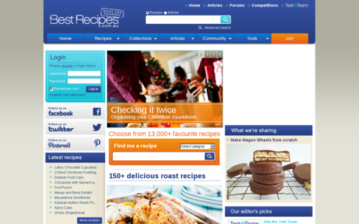 Access bestrecipes.com.au using Hola Unblocker web proxy
