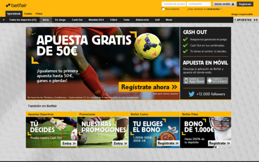 Access betfair.es using Hola Unblocker web proxy