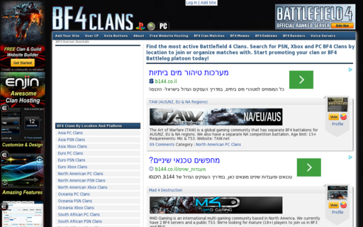 Access bf4clans.com using Hola Unblocker web proxy