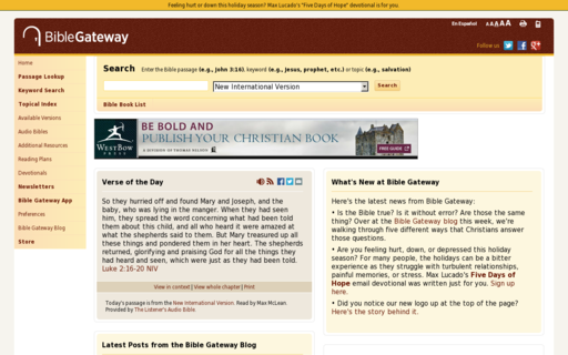 Access biblegateway.com using Hola Unblocker web proxy