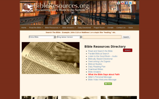 Access bibleresources.org using Hola Unblocker web proxy