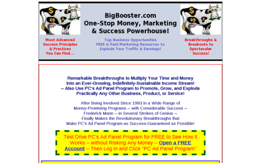 Access bigbooster.com using Hola Unblocker web proxy