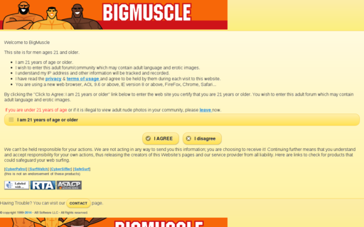 Access bigmuscle.com using Hola Unblocker web proxy