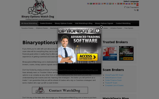 Access binaryoptionswatchdog.com using Hola Unblocker web proxy