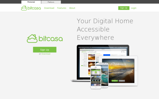 Access bitcasa.com using Hola Unblocker web proxy