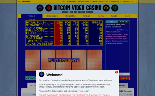Access bitcoinvideocasino.com using Hola Unblocker web proxy
