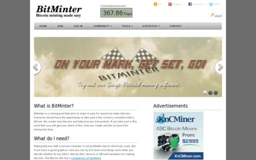 Access bitminter.com using Hola Unblocker web proxy