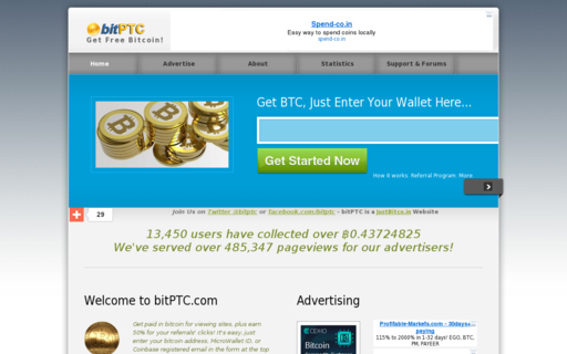 Access bitptc.com using Hola Unblocker web proxy