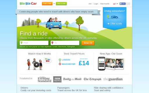 Access blablacar.com using Hola Unblocker web proxy