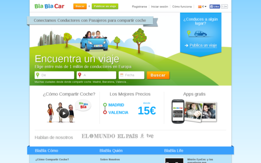 Access blablacar.es using Hola Unblocker web proxy