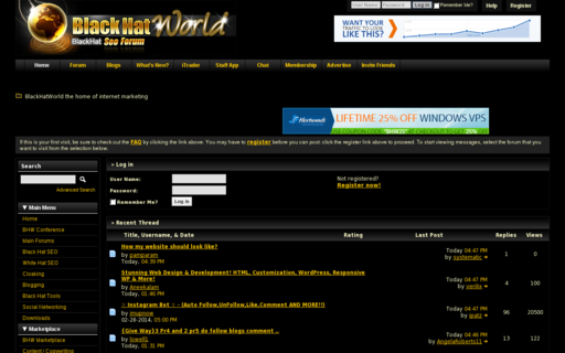 Access blackhatworld.com using Hola Unblocker web proxy