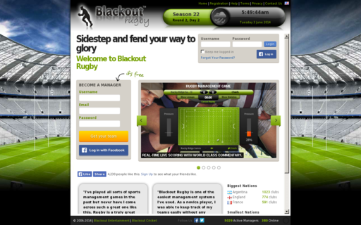 Access blackoutrugby.com using Hola Unblocker web proxy