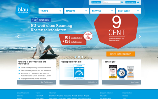 Access blau.de using Hola Unblocker web proxy