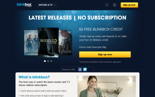 Access blinkbox.com using Hola Unblocker web proxy