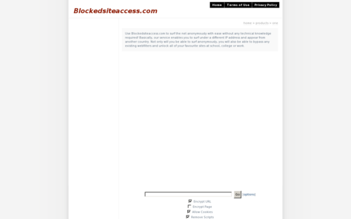 Access blockedsiteaccess.com using Hola Unblocker web proxy