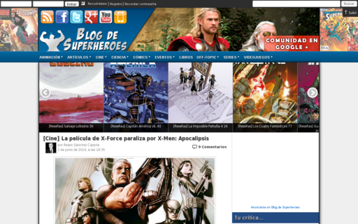 Access blogdesuperheroes.es using Hola Unblocker web proxy