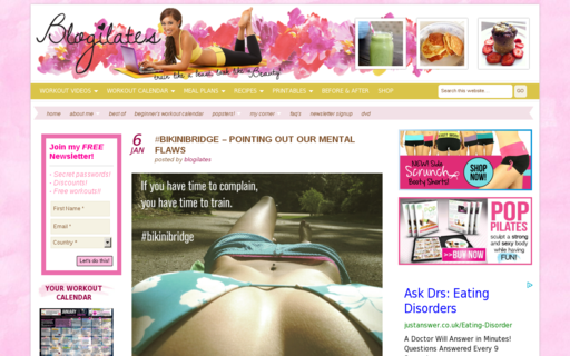 Access blogilates.com using Hola Unblocker web proxy