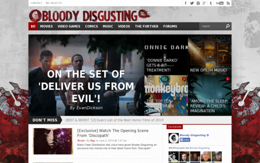 Access bloody-disgusting.com using Hola Unblocker web proxy
