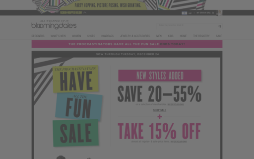 Access bloomingdales.com using Hola Unblocker web proxy