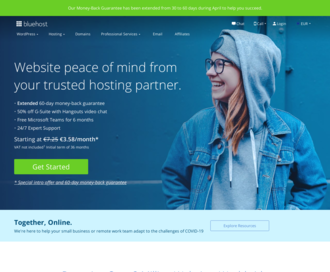 Access bluehost.com using Hola Unblocker web proxy