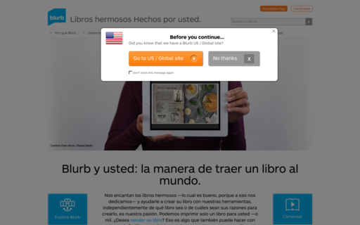 Access blurb.es using Hola Unblocker web proxy