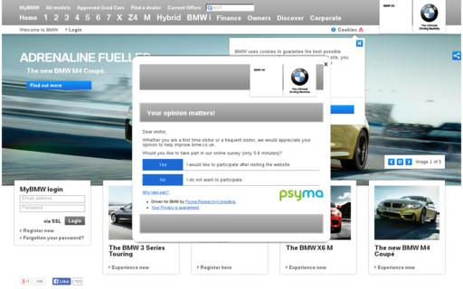 Access bmw.co.uk using Hola Unblocker web proxy