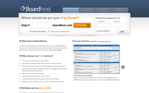 Access boardhost.com using Hola Unblocker web proxy