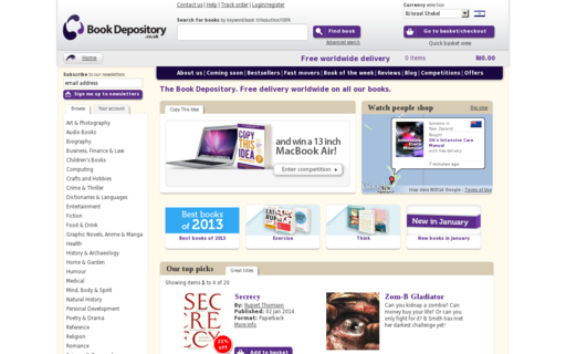 Access bookdepository.co.uk using Hola Unblocker web proxy