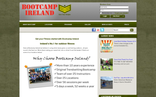 Access bootcampireland.com using Hola Unblocker web proxy