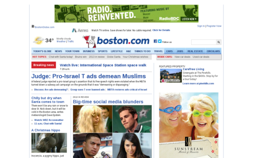 Access boston.com using Hola Unblocker web proxy
