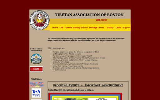 Access bostontibet.org using Hola Unblocker web proxy