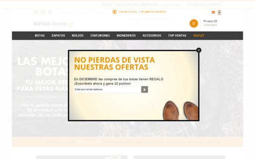 Access botas-online.es using Hola Unblocker web proxy