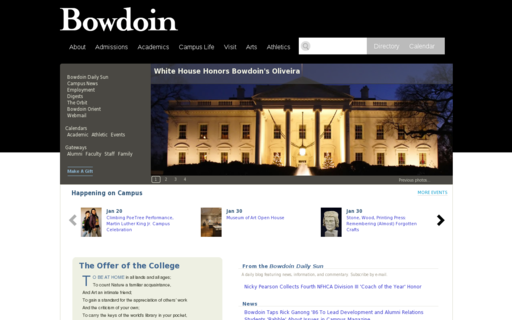 Access bowdoin.edu using Hola Unblocker web proxy