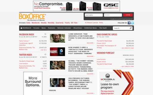 Access boxoffice.com using Hola Unblocker web proxy