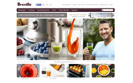 Access brevilleusa.com using Hola Unblocker web proxy