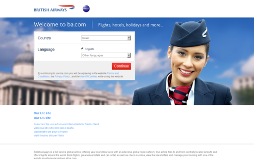 Access britishairways.com using Hola Unblocker web proxy