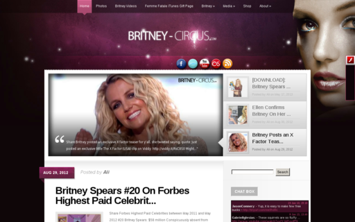 Access britney-circus.com using Hola Unblocker web proxy