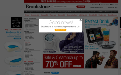 Access brookstone.com using Hola Unblocker web proxy