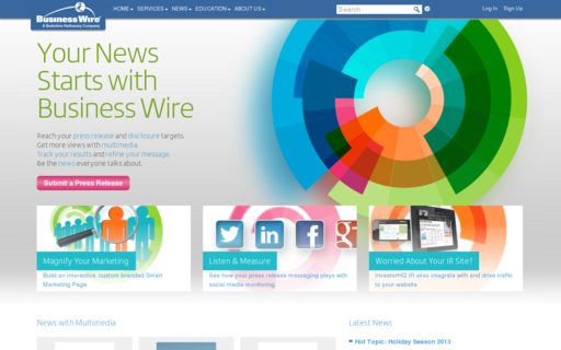 Access businesswire.com using Hola Unblocker web proxy