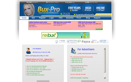 Access bux-pro.com using Hola Unblocker web proxy
