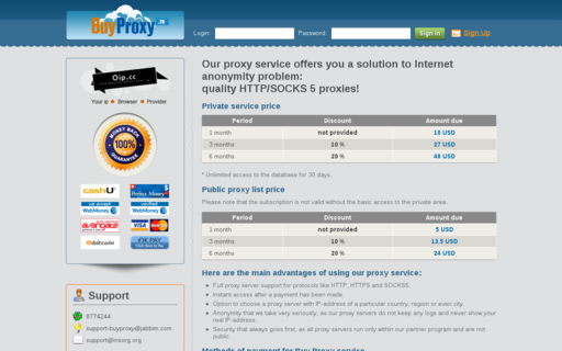 Access buyproxy.ru using Hola Unblocker web proxy