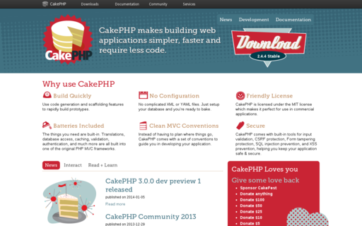 Access cakephp.org using Hola Unblocker web proxy