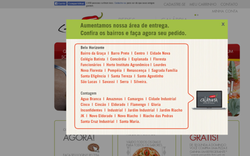 Access calabriapizza.com.br using Hola Unblocker web proxy