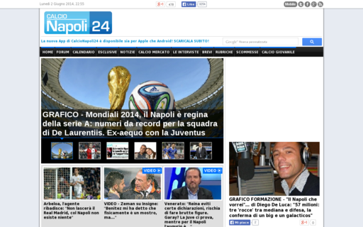 Access calcionapoli24.it using Hola Unblocker web proxy