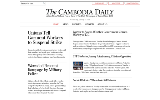 Access cambodiadaily.com using Hola Unblocker web proxy