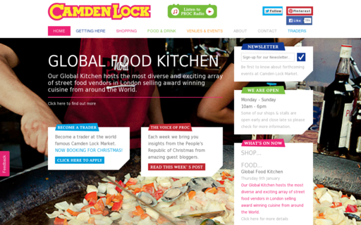 Access camdenlockmarket.com using Hola Unblocker web proxy