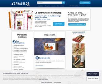 Access canalblog.com using Hola Unblocker web proxy