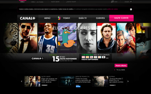 Access canalplus.es using Hola Unblocker web proxy